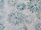 Star Flowers Batik Tonga Quilt Fabric Frost Timeless Treasures FQ BTHY BTY