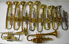 LOT OF 5 TRUMPETS AND 5 CORNETS-BUNDY, REYNOLDS, CONN, HOLTON, AMERICAN STANDARD