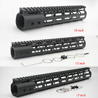 Black 10''12''15'' inch M-LOK Free Float Handguard Rail Mount System Hand Guard