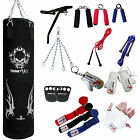 TurnerMAX Punch Bag Set Boxing Bag Martial Art Equipment Gloves Wall Bracket BLK