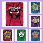 NBA Licensed Shadow Play Raschel Plush Afghan Throw Blanket - Choose Your Team