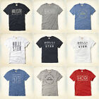 Hollister by Abercrombie Mens T-Shirt Logo Graphic Tee Top All Colours Sizes NWT