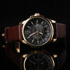 Mens Wathches Luxury Analog Quartz Leather Men Wrist Watch Date Sport Steel Case