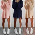 FASHION Women Oversized Long Sleeve Knitted Sweater Tops Cardigan Outwear Coat