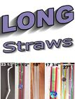 XXX Long Drinking Straws, Novelty, Caregiver, Party, 12 in .- 29 1/2 in. LONG