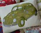 VW Beetle Car Cushion! Retro Green 'Love Bug'! Cover Only, Fibre OR Feather Fill
