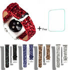 Glitter Leather Bracelet Strap Band For Apple iWatch Series 38mm/42mm Newest