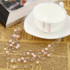 Multilayer Fashion Pearl Necklace Earrings Bridal Jewelry Sets Party Gift