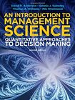 Introduction to Management Science: Quantative Approaches to Decision Making, Wi