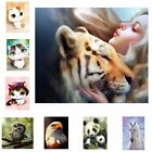 DIY 5D Diamond Embroidery Painting Cute Animal Cross Stitch Home Decor Crafts