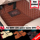 Y2R3 Car Interior Floor Mats For BMW 220i active tourer 2016 Front & Rear Yes