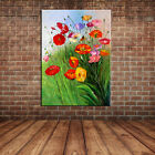 Modern Wall Art Decor Landscape Spring Scenery Wild Flowers Oil Painting Canvas
