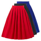 New 2016 high waist retro vintage style 1950s full circle skirt black plus sizes