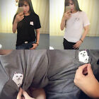 Cool Fashion Middle Pocket Cat Men and Women Can Wear Short-sleeved T-shirt UR