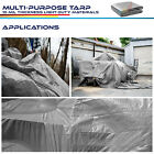 Silver Heavy Duty 12 mil Tarp Reinforced Resistant Cover Tent Shelter Canopy