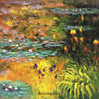 Handmade Impression of thick Oil Painting Art repro Water Lilies on Canvas Wat08