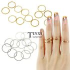 12PCS/Set Rings Urban stack Cute Plain Above Knuckle Ring Band Midi Ring  TXSU
