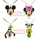 Hot 100pcs Mickey Cartoon Chains Pendant Rope Chain Chokers Necklaces Kids Gift
