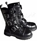 Biker Combat Gothic Hipster Steampunk Grunge Mad Max Leather Military Punk Boots