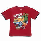 NEW Kids Boys Summer T-Shirts 100% Cotton Child shirt Top Short Sleeve RED TRUCK