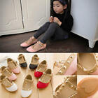 Kids Girls Gladiator Flat Walking Princess Shoes Rivet Studded Toddlers Sandals
