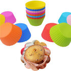6pcs Round Soft Silicone Cake Muffin Chocolate Cupcake Liner Baking Cup Mold LE