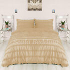 3 Piece Horizontal Ruffle Duvet Cover 1000 TC Egyptian Cotton All Size & Color