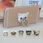 Metal Finger Ring Stand Cat Mount Holder For iPhone Samsung Generic Cell Phone