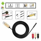 2~10M 2in1 Android Endoscope 6 LED Waterproof Borescope Inspection HD Camera PC