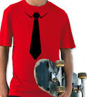 TIE RED & BLACK YOUTH T SHIRT BOYS & GIRLS RETRO COSTUME PARTY FASHION GIFT