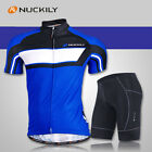 Mens Ciclismo Bike Bicycle Short Sleeve Cycling Jersey & Shorts Sets 3D GEL PAD