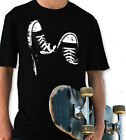 SNEAKERS SHOES BLACK YOUTH T SHIRT BOYS & GIRL CHUCKS CONVIES TAYLORS STYLE