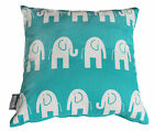 ELEPHANT BLUE WHITE KIDS CUSHION COVER BABY NURSERY DECORATIVE THROW PILLOW