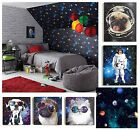 Cosmos Space Themed Teenage Boys Bedroom Wallpaper & Matching Accesssories