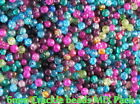 200 Glass Crackle Beads 6mm MIX PACK ASSORTED COLOURS 6MM CRACKEL BEADS *SALE*