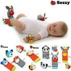 New Baby Infant Rattle Foot Sock and Wrist Toys Developmental Sensory Gift Set