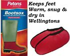 UNISEX Patons BOOTSOX Wellington / Boot / Waders Thermal Cosy Liners. NEW