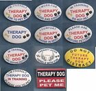 THERAPY DOG vest pin - use instead of patch (also avail service dog patch & pin)