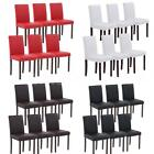 2/4/6/8 Elegant PU Leather Dining Chairs Wood Frame Kitchen Breakfast Stool S5K1