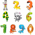 Cute Animal Cartoon Arabic Numeral Foil Balloons Number Inflatable Kids Toy Part