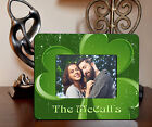 "4""x6"" PHOTO FRAME - IRISH BIG CLOVER ADD NAME OR TEXT FREE - Family Gift Picture"
