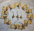 CHINESE LUCKY ZODIAC CHARMS ROSEWOOD EFFECT RESIN CHARMS ON A CORD