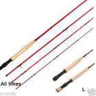 All times8.6/9/10ft MFGraphite Blanks Fly Fishing Rod &Fly Aluminum Reel Combo