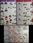 A4 3D Paper Tole Mushroom Themes 3 and 4 pictures per sheet NEW