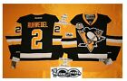 Ruhwedel Pittsburgh Penguins Reebok Hockey Jersey 50th & NHL 100th patch 7185