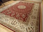 Silk Persian Rugs Red 8x10 Qum Hand Knotted Fringes 5x8 Traditional Rug Runner 2