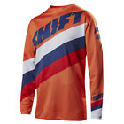 2017 Shift MX Youth WHIT3 Tarmac Jersey - Orange Boys Motocross Offroad Trail Di