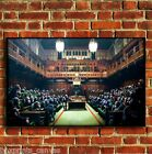 BANKSY MONKEY PARLIAMENT GRAFITTI CANVAS WALL ART PRINT PICTURE S MEDIUM LARGE