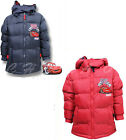 BRAND NEW BOYS RED OR NAVY DISNEY CARS WINTER PUFF COAT SIZE AGE 3, 4, 6, 8YEARS