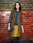 BODEN Toffee Military Moleskin Coat UK 12 Regular Brand New £119 12R
